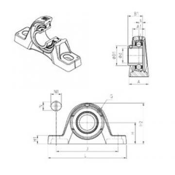 SNR USPLE206 Unidad De Rodamiento