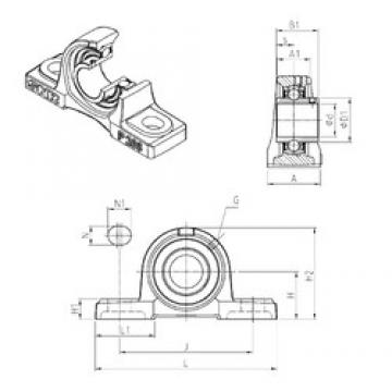 SNR UCP208 Unidad De Rodamiento