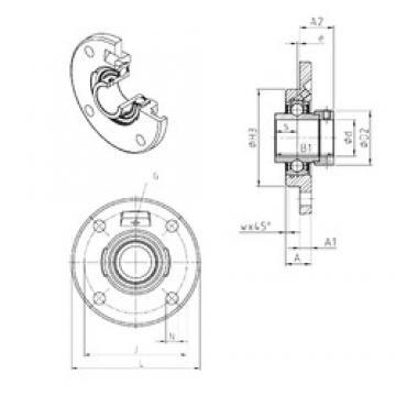 SNR EXFCE216 Unidad De Rodamiento