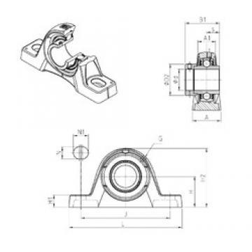 SNR EXPLE210 Unidad De Rodamiento