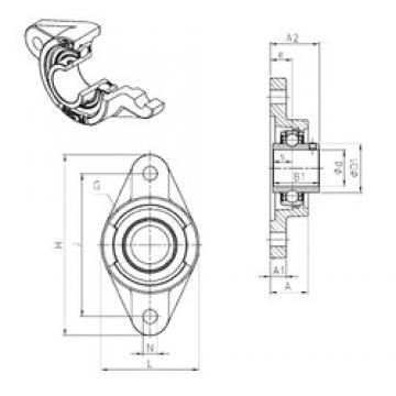 SNR UCFL208 Unidad De Rodamiento