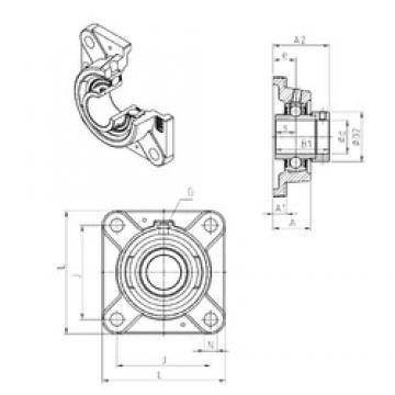 SNR EXFE212 Unidad De Rodamiento