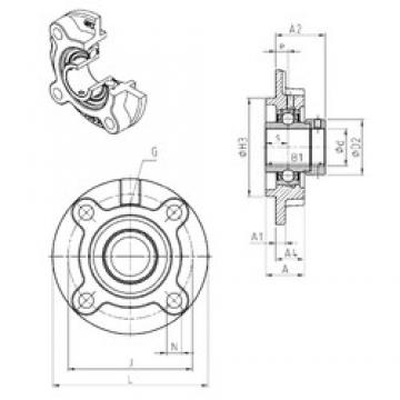 SNR EXFC205 Unidad De Rodamiento