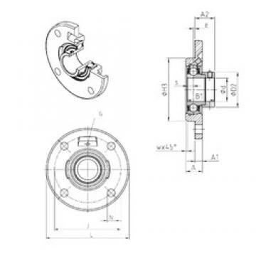 SNR ESFCE206 Unidad De Rodamiento