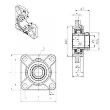 SNR EXFS317 Unidad De Rodamiento