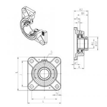 SNR ESFE208 Unidad De Rodamiento