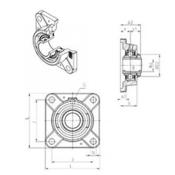 SNR UKFE218H Unidad De Rodamiento