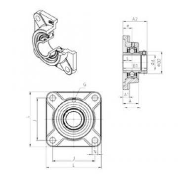 SNR EXF320 Unidad De Rodamiento